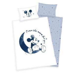 Herding Detské bavlnené obliečky do postieľky Mickey Mouse Moon, 100 x 135 cm, 40 x 60 cm