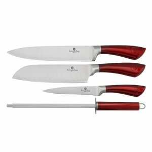 Berlinger Haus BH-2011 Burgundy Metallic sada nožov 4 ks