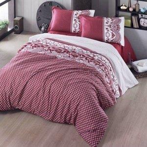 Kvalitex Bavlnené obliečky Canzone červená