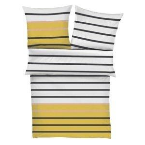 s.Oliver Saténové obliečky 5724/950 biela / žltá, 140 x 200 cm, 70 x 90 cm