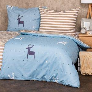 4Home Bavlnené povlečení Deer love, 140 x 200 cm, 70 x 90 cm