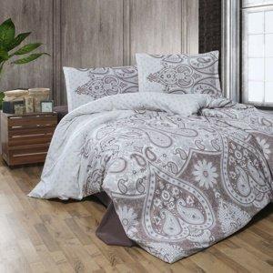 Kvalitex Flanelové obliečky Azka béžová, 140 x 200 cm, 70 x 90 cm