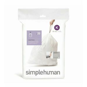 Vrecia do odpadkového koša 35-45 L, Simplehuman typ K, zaťahovacie, 20 ks v balení