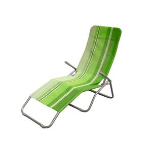 Happy Green Plážové skladacie ležadlo pruh zelená,