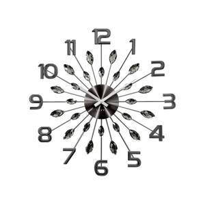 Lavvu LCT1191 Nástenné hodiny Crystal Sun 49 cm, antracit