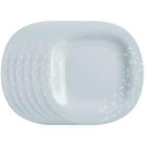 Luminarc Sada plytkých tanierov Ombrelle 27 cm, 6 ks, sivá