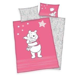 Herding Detské bavlnené obliečky do postieľky Winnie Pooh Friends , 100 x 135 cm, 40 x 60 cm