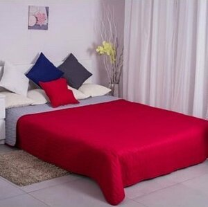 Domarex Obojstranný prehoz na posteľ Canti červená/sivá, 220 x 240 cm