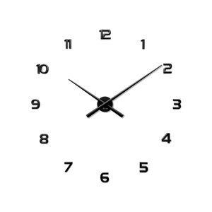 Lavvu LCT1170 Nalepovacie hodiny 3D Sticker Black Numerals, čierna