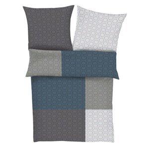 s.Oliver Saténové obliečky 4996/860 sivá / modrá, 140 x 200 cm, 70 x 90 cm