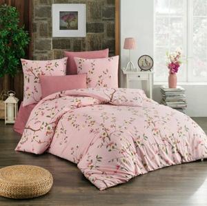BedTex Bavlnené obliečky Laura ružová, 140 x 200 cm, 70 x 90 cm