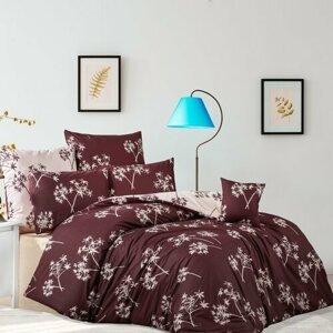 BedTex Bavlnené obliečky Idil burgundová, 140 x 200 cm, 70 x 90 cm