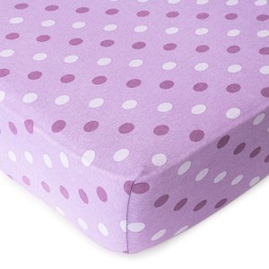 4home Jersey prestieradlo Bodka fialová, 160 x 220 cm