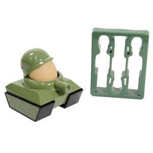 Kalíšok na vajíčko + vykrajovadlá vojaci