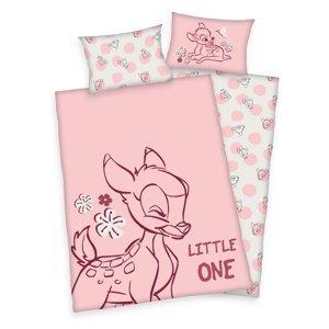 Herding Detské bavlnené obliečky do postieľky Bambi Little one, 100 x 135 cm, 40 x 60 cm