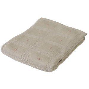 Babymatex Detská deka Accent béžová, 80 x 100 cm