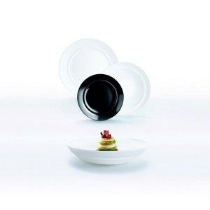 Luminarc 18-dielna jedálenská súprava ALEXIE, bielo-čierna