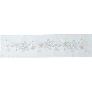 Sander Obrus Christmas flake krémová 85 x 85 cm