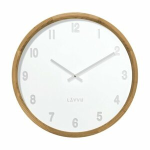 LAVVU LCT4060 - Svetlé drevené biele hodiny Fade