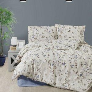 Kvalitex Flanelové obliečky Node hnedá, 140 x 220 cm, 70 x 90 cm