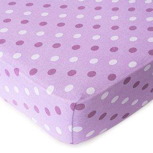 4home Jersey prestieradlo Bodka fialová, 100 x 200 cm