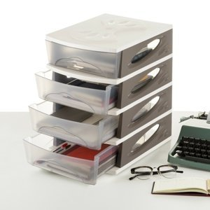Organizér MEDYA BOX, 26,5 x 35 x 39, taupe