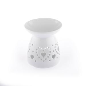 Keramická aromalampa Corazon, biela