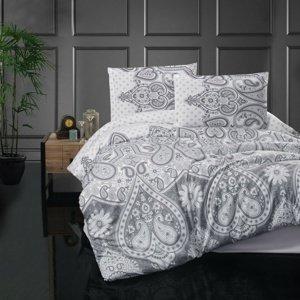 Kvalitex Flanelové obliečky Azka sivá, 140 x 220 cm, 70 x 90 cm