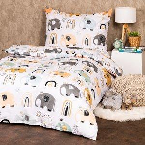 4Home Bavlnené obliečky Little elephant, 140 x 200 cm, 70 x 90 cm