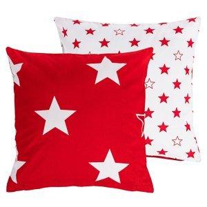 4home Obliečka na vankúšik Stars red, 40 x 40 cm
