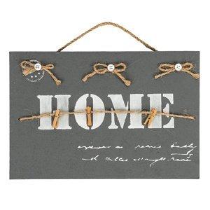 Altom Dekorativní závěsná tabule Home, sivá