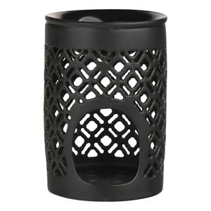 Altom Porcelánová aromalampa Beth 8,5 x 11,5 cm, čierna