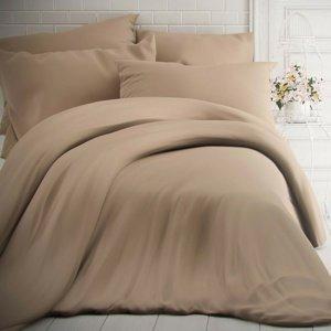 Kvalitex Bavlnené obliečky béžová, 220 x 200 cm, 2 ks 70 x 90 cm