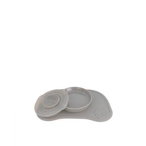 Twistshake Podložka Click-mat Mini s tanierom, sivá
