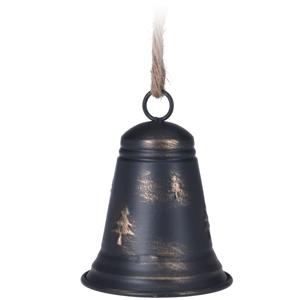 Vianočný zvonček Nabo čierna, 9,8 x 13 cm