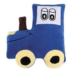 Bellatex Tvarovaný vankúšik Traktor modrá, 45 x 30 cm