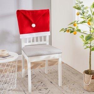 4Home Vianočný poťah na stoličku Santa, 49 x 60 cm, sada 2 ks