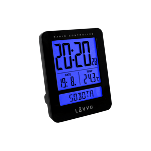 Digitálny budík Lavvu Duo Black, 9,2 cm