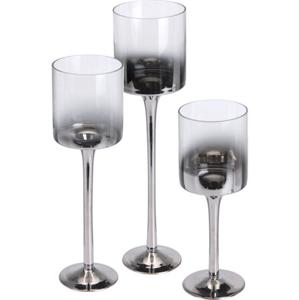 Set 3 sklenených svietnikov DP2001390 Stardeco