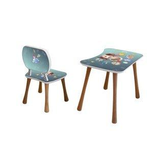 Detský stolík so stoličkou Vesmír, 65 x 41 x 47 cm