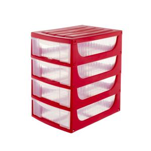 Plastový organizér HOBBY 17 x 25 x 27 cm, červená