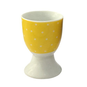 Altom Porcelánový stojanček na vajíčko Bodka, žltá