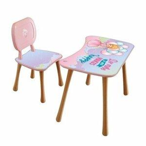 Detský stolík so stoličkou Dievčatko s balónikmi, 65 x 41 x 47 cm