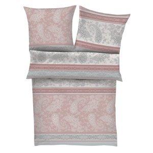 Zeitgeist Saténové obliečky 5517/550 ružová / sivá, 140 x 200 cm, 70 x 90 cm
