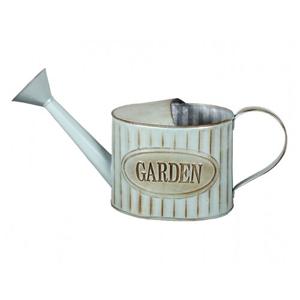 Plechová kanvička s kropítkom Garden retro modrá