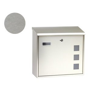 Poštová nerezová schránka s okienkami BK.703.G.Z.N