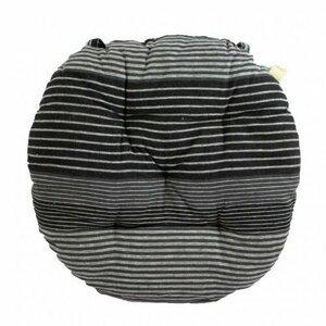 Trade Concept Sedák Prúžok sivá prešívaný okrúhly, 40 cm