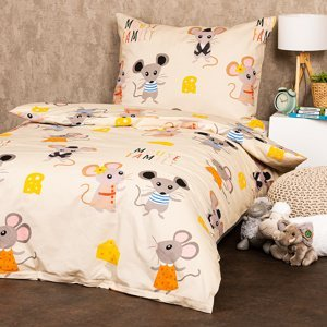 4Home Detské bavlnené obliečky Little mouse, 140 x 200 cm, 70 x 90 cm