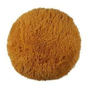 Bo-ma Trading Vankúšik chlpatý Jáchym horčicová, 50 cm