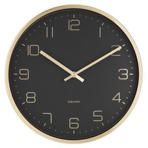 Karlsson 5720BK dizajnové nástenné hodiny, pr. 30 cm